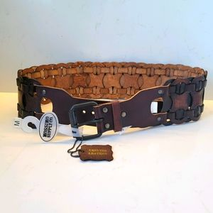 Mossimo Brown Braided Leather Belt